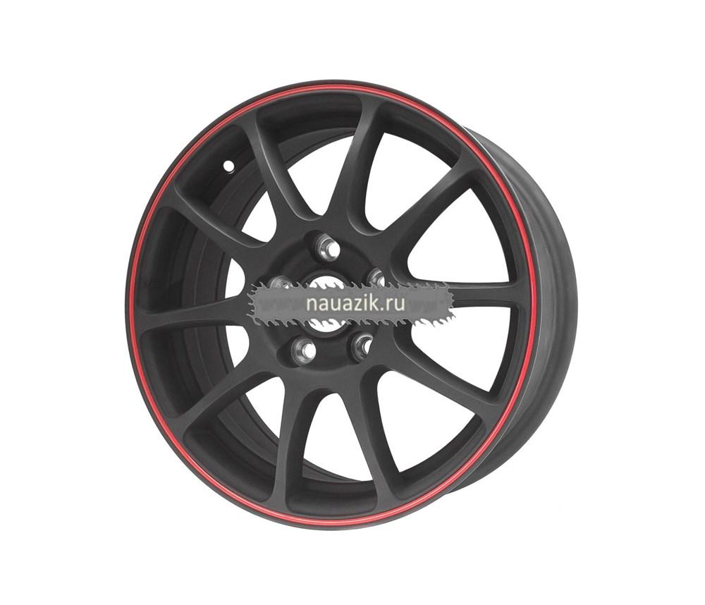 TG Racing 1162301 TGR001 (6,5х16 5х112 ET40 d73,1) MATT BLACK RED RING     Шкода, Фольксваген