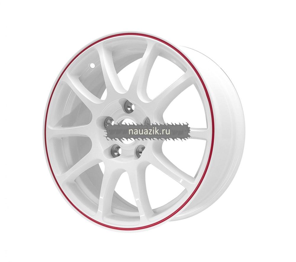TG Racing 1162302 TGR001 (6,5х16 5х112 ET40 d73,1) WHITE RED RING      Шкода, Фольксваген