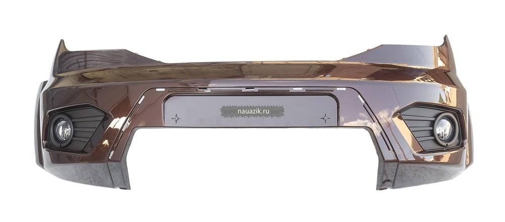 Бампер передний Патриот в сборе с против. фарами с 2015 г.в KAM