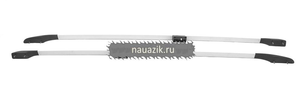 Рейлинги (дуги багажника) серебро н/о (с метал. вставками)