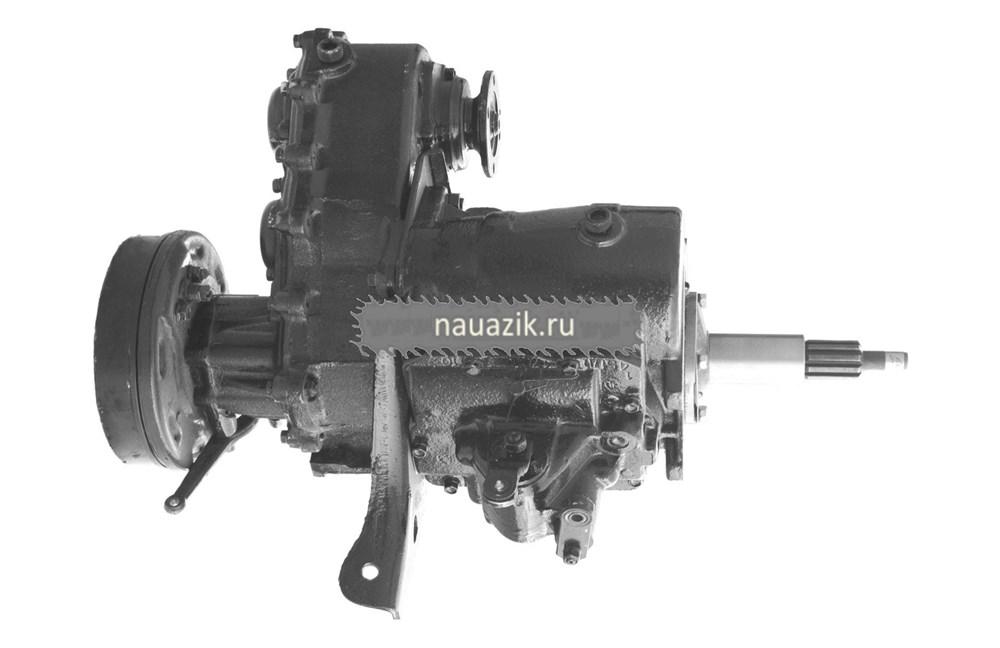 Агрегат в сб. УАЗ 452 4-х синх.КПП (толстый вал)++
