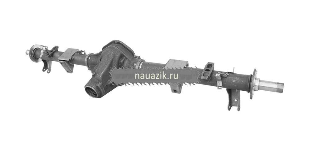 Картер заднего моста УАЗ-3163 с кожухами с АБС (под новые тормоза и штангу стабилизатора)
