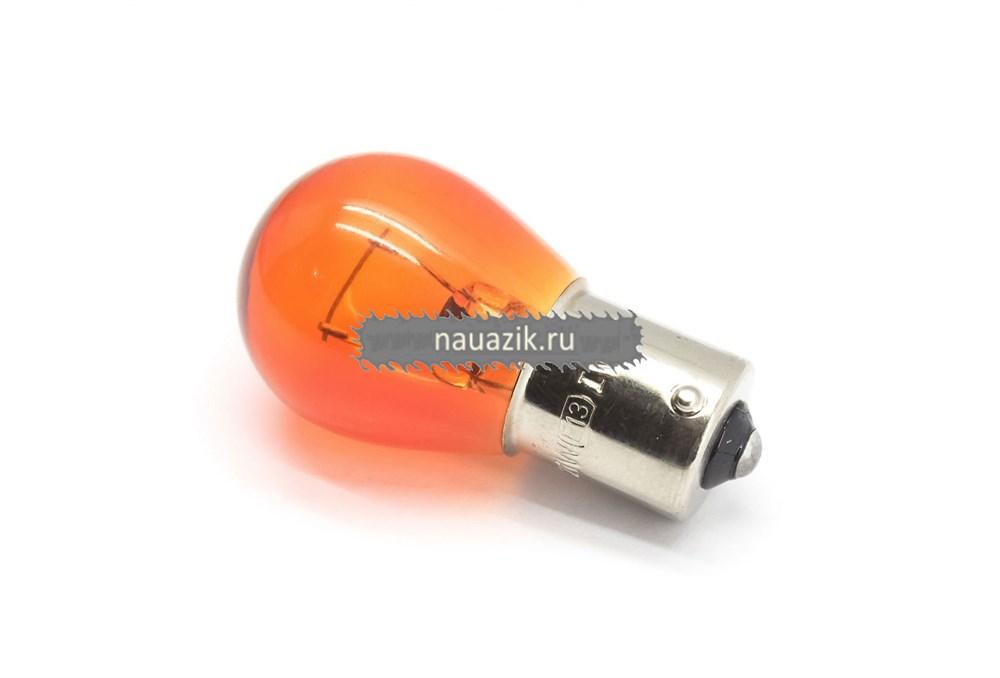 Автолампа А12V-21W (оранж.) Маяк (61213) (поворота) одноконт. (уп.100 шт)