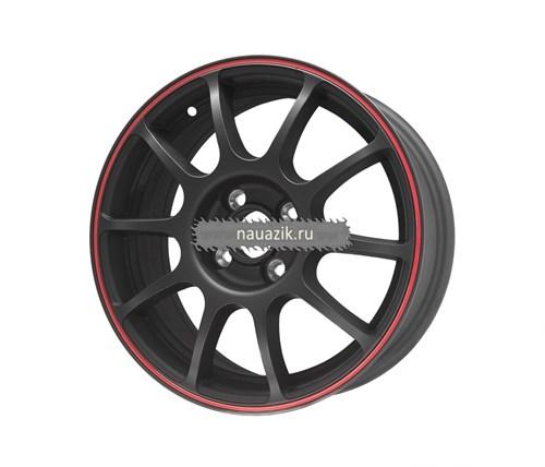 TG Racing 1152215 TGR001 (6х15 4х98 ET38 d58.5) MATT BLACK RED RING