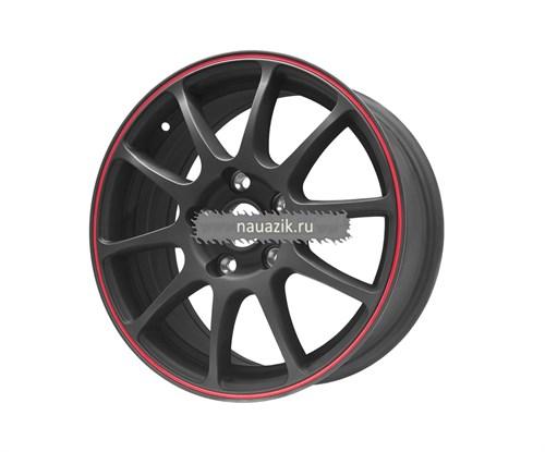 TG Racing 1162194 TGR001 (6,5х16 5х114,3 ET45 d67,1) MATT BLACK RED RING     Киа, Митсубиси