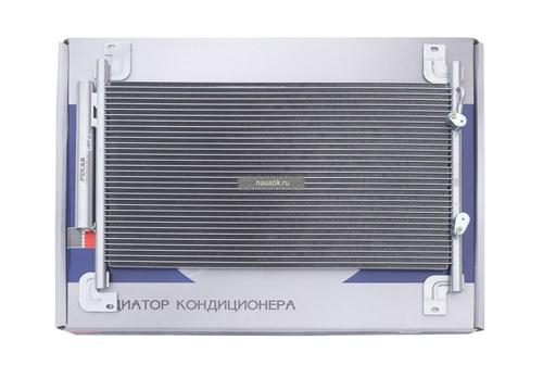 Конденсатор (радиатор)кондиционера с рессивером (бензин/дизель) Пекар /новинка/