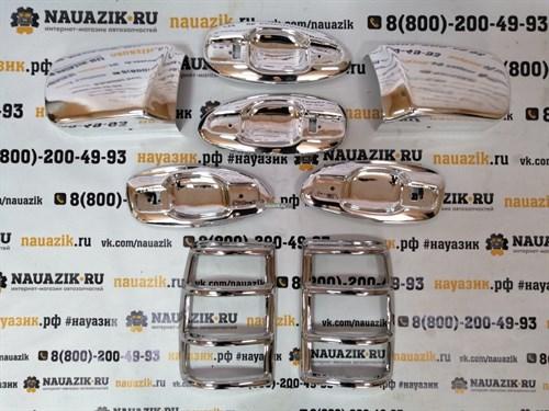 Комплект хромированных накладок УАЗ Патриот до 2014г.в. (дорестайлинг) - фото 19401
