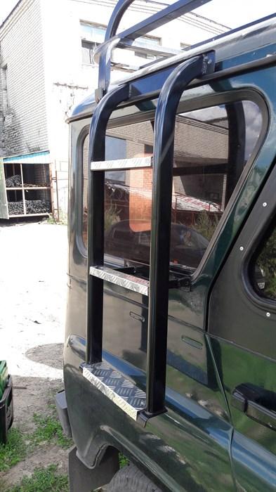 "Лестница ""Боковая-2"" на УАЗ Хантер / УАЗ 469 - фото 24920"