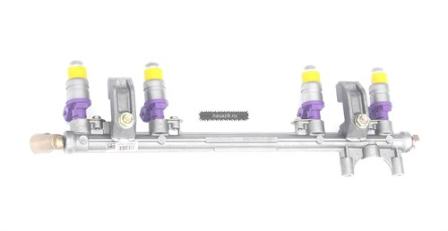 Топливопровод УМЗ-4213 ЕВРО-2,3 с форсунками и угловым штуцером - фото 7666