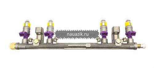 Топливопровод УМЗ-4216  Гль, УАЗ  рампа с форсунками ПЕКАР - фото 7668