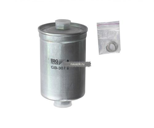 Фильтр топливный тонкой очистки ГАЗ инжектор под штуцер (штуцеры разные) (BIG FILTЕR) - фото 7826