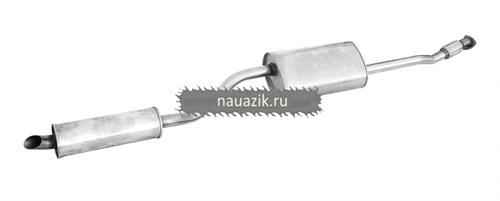 Глушитель с резонатором (УАЗ Патриот, дв. 409 нерж.)  L-2650 - фото 7991