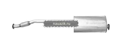 Глушитель УАЗ Патриот с 2008г. (нерж.) ЕВРО-3 н/о с гофрой (под мех. РК)