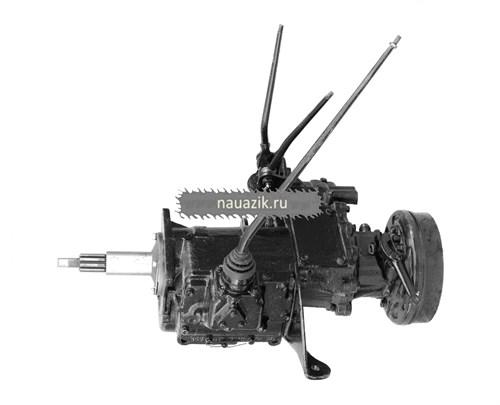 Агрегат в сб. УАЗ 469 4-х синх.КПП (толстый вал)++