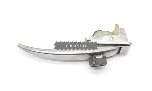 Ручка двери наружная УАЗ 452 с ключом (хромированная)