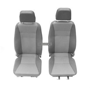 Сиденья передние мягкие Майор УАЗ 452 с 2016г. (комплект)  (3-х точечное крепл,вод.на салазках)