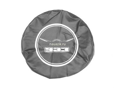Чехол запасного колеса УАЗ (дермантин) черный с резинкой
