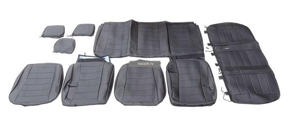 Чехлы сидений (черная экокожа) УАЗ Пикап с 2015 г.в. (завод)