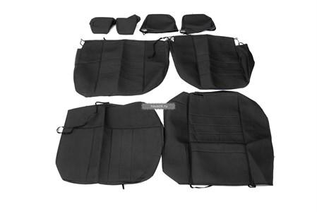 Чехлы сидений УАЗ Патриот с 2015 г.в.  (черная экокожа) (без подлокотника)