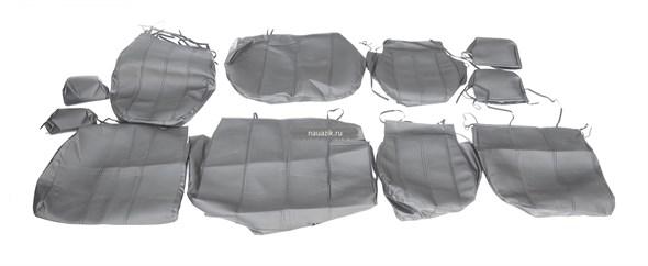 Чехлы сидений УАЗ Патриот с 2015 г.в. (черная экокожа) (с подлокотником)