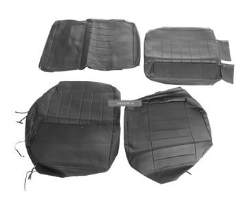 Чехлы сидений УАЗ Патриот с 2015 г.в (завод) (черная экокожа)