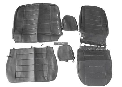 Чехлы сидений УАЗ Профи (черная экокожа) (завод)