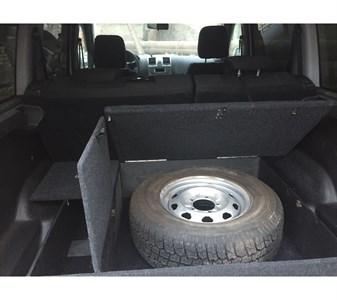 Ящик органайзер в багажник УАЗ Патриот под запасное колесо (с 2015 по наст. время)