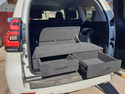 Ящик органайзер в багажник Тойота Лэнд Крузер Прадо 150 комплектация Оптимум (с 2018 по наст. время)