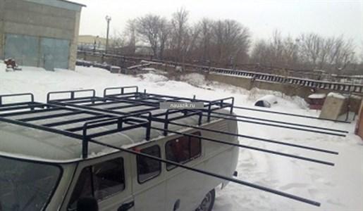"""Багажник УАЗ 452 Буханка """"Круиз"""" (12 опор) с выдвижными полозьями"""