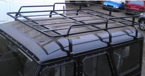 """Багажник УАЗ 469 / Хантер """"Усиленный"""" 6 опор 1,85м"""