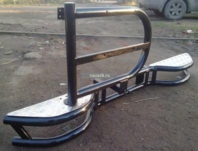 """Бампер задний """"Тайга"""" УАЗ 469 / Хантер с калиткой под запаску"""