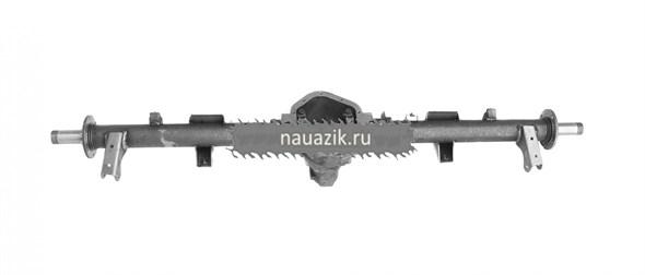 Картер заднего моста УАЗ-2360 с кожухами без АБС (под новые тормоза и штангу стабилизатора)